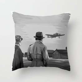 Casablanca Ending Throw Pillow