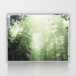 German Jungle - Forest in Morning Mist Laptop & iPad Skin