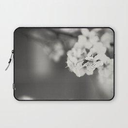 White Floret (B/W) Laptop Sleeve