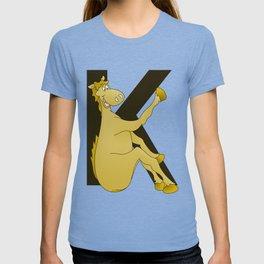 Pony Monogram Letter K T-shirt