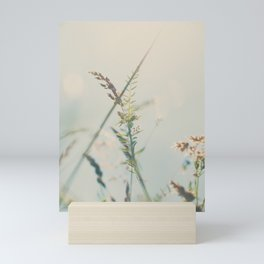 lying amongst the wild flowers dreaming my life away ... Mini Art Print