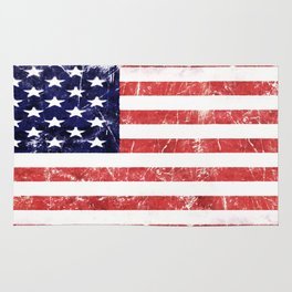 American Grunge Flag Rug