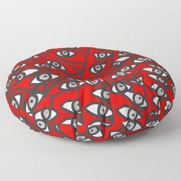 Freddie Eyeballs Red Floor Pillow