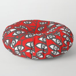 Freddie Eyeballs Red Floor Pillow