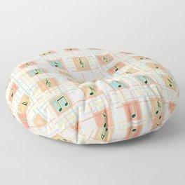 Music notes IV Floor Pillow