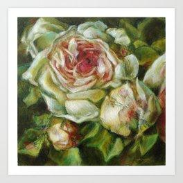 Rose et satellites Art Print