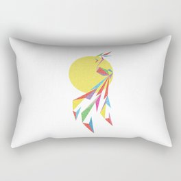 Abstract Moon Bird Rectangular Pillow