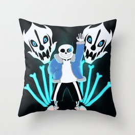 Sans the Skeleton Throw Pillow