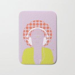 Buddha : Listen to Om! (PopArtVersion) Bath Mat