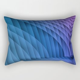 Geometric Path Blue-Pink Rectangular Pillow