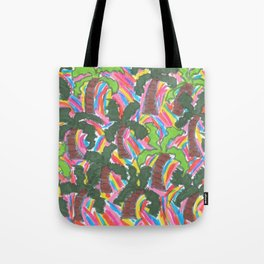 Rainbow Palm Trees Tropical Party Tote Bag