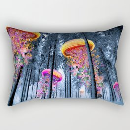 Winter Forest of Electric Jellyfish Worlds Rectangular Pillow