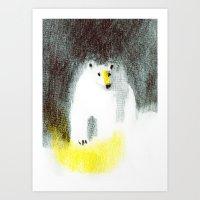 polar bear Art Prints featuring Polar Bear by Linette No