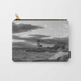 Annisquam Lighthouse Black and white Carry-All Pouch