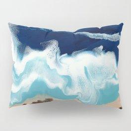 Tsambou, a beach on Samos island, Greece; Resin abstract painting Pillow Sham