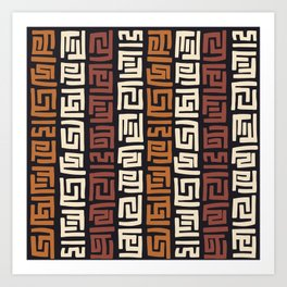 African Kuba Cloth Art Print