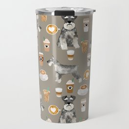 Schnauzer coffee dog breed pet art pure breed cafes pupuccino Travel Mug