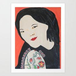 Margaret Cho - Badass Woman Portrait Art Print