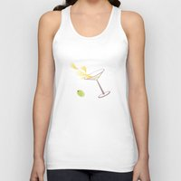martini Tank Tops featuring Martini by rusanovska