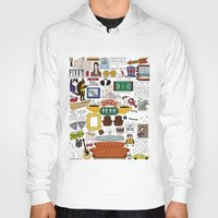 collage Hoodies featuring Collage by Loverly Prints