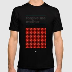 Forgive Me Mother Black Mens Fitted Tee MEDIUM