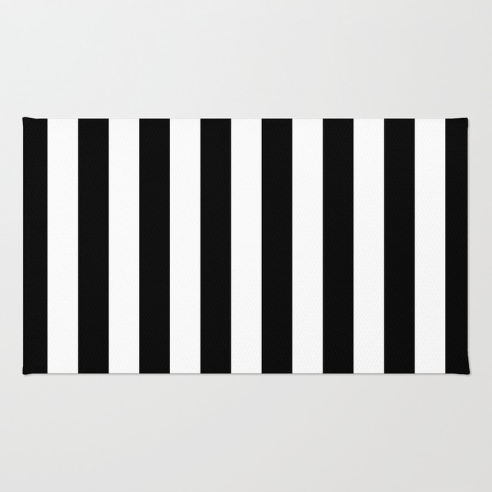 Parisian Black & White Stripes (vertical) Rug