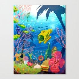Summer Submarine Canvas Print