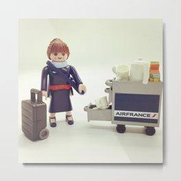 Air France, but Tiny Metal Print