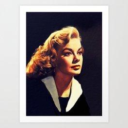 Leslie Parrish, Vintage Actress Art Print