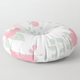 Dahlias and spring flowers in light pastel pink Floor Pillow