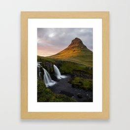 In Awe of Kirjufell Framed Art Print