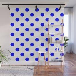 POLKA DOT DESIGN (BLUE-WHITE) Wall Mural