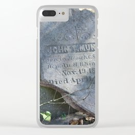 French-German tombstone: Munsch 1830-1894 Clear iPhone Case