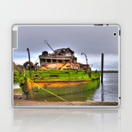 Mary D. Humes at the port of Gold Beach Laptop & iPad Skin
