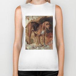 "William Holman Hunt ""Study Of A Bloodhound"" Biker Tank"