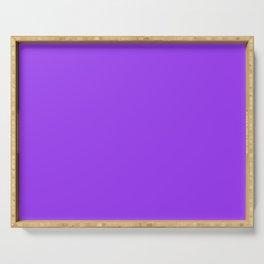 Bright Fluorescent Neon Purple Serving Tray
