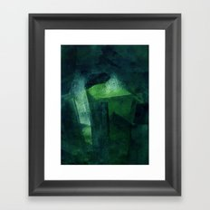 Crystal Evaporating in a Full Void Framed Art Print