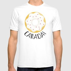 O Canada! Mens Fitted Tee MEDIUM White