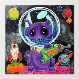 A Good Boy in Space Canvas Print