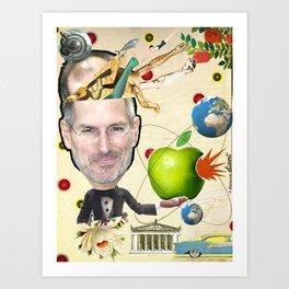 COLLAGE: Steve Jobs Art Print