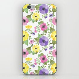 Spring Bouquet Watercolor iPhone Skin