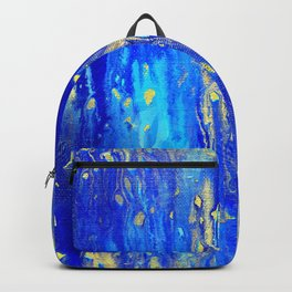 Gold & blue abstract d171013 Backpack