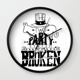 Two Party System Wall Clock