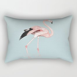 Flamingo on turquoise waters Rectangular Pillow