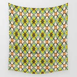 Green X O Wall Tapestry