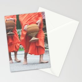 monks collecting alms Stationery Cards
