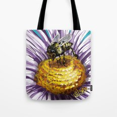 Wasp on flower 3 Tote Bag