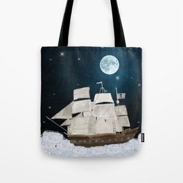 the pirate ghost ship Tote Bag