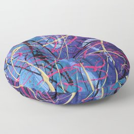 Old Time Rock and Roll Floor Pillow