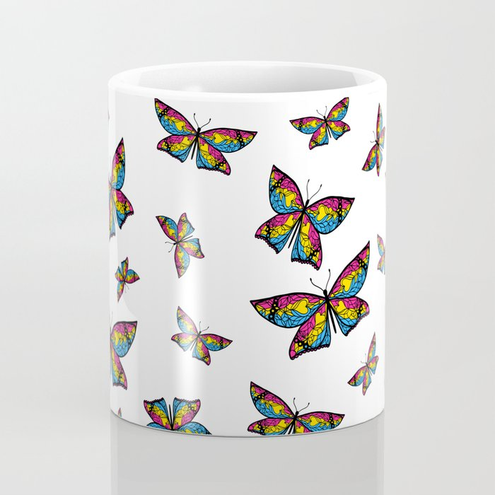 Fly With Pride: Pansexual Flag Butterfly Coffee Mug